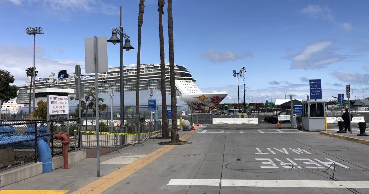 Di tengah coronavirus, kapal pesiar menganggur jauh dari SoCal pantai