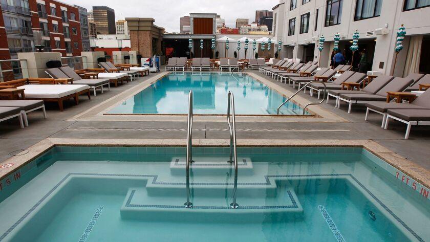 Pendry hotel pool deck