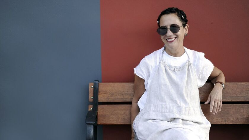 LOS ANGELES, CA- September 19, 2017: Chef Nancy Silverton is the co-owner of Osteria Mozza, Pizzeri