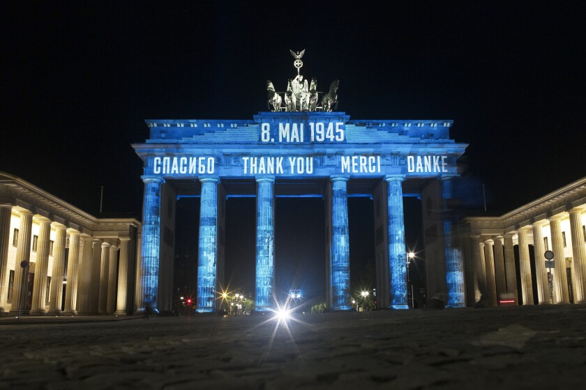 APTOPIX Virus Outbreak Germany WWII VE Day