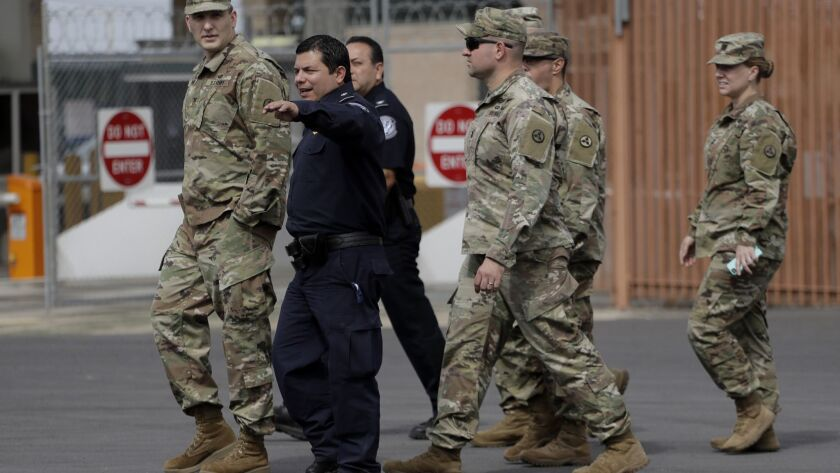 Members of the U.S. military tour the McAllen-Hidalgo International Bridge with U.S. Customs and Border Patrol agents on Nov. 3.