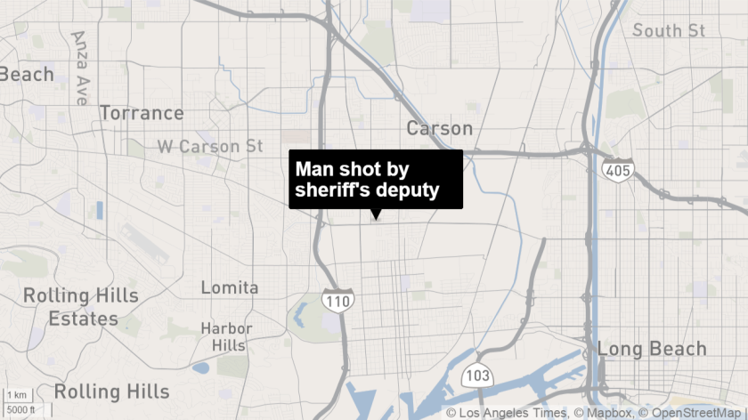 A man who was wielding a steak knife was shot and killed by an L.A. County sheriff's deputy, officials say.