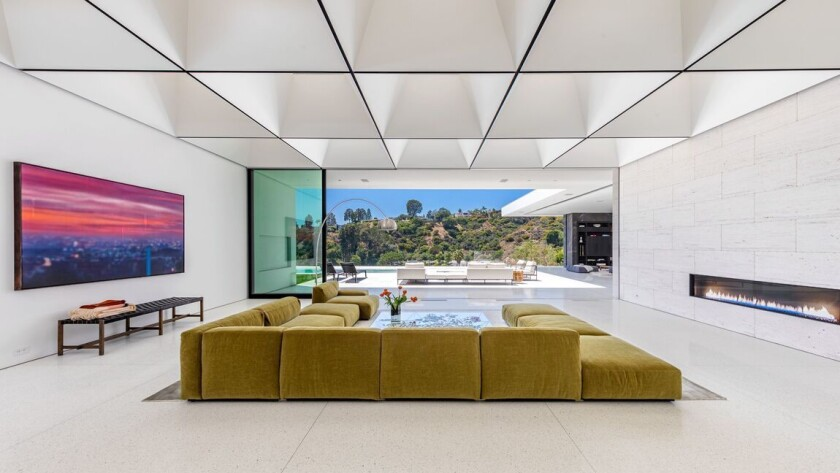 """Built in 2020, the 12,000-square-foot home boasts $1-million ceilings inspired by Stanley Kubrick's """"2001: A Space Odyssey."""""""