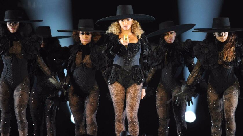 Beyonce performs during the Formation World Tour at Qualcomm Stadium on May 12
