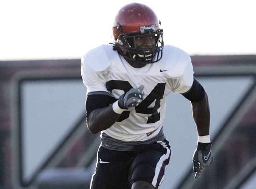Aztecs senior Kwincy Edwards, a career backup, is getting a chance to shine at safety.