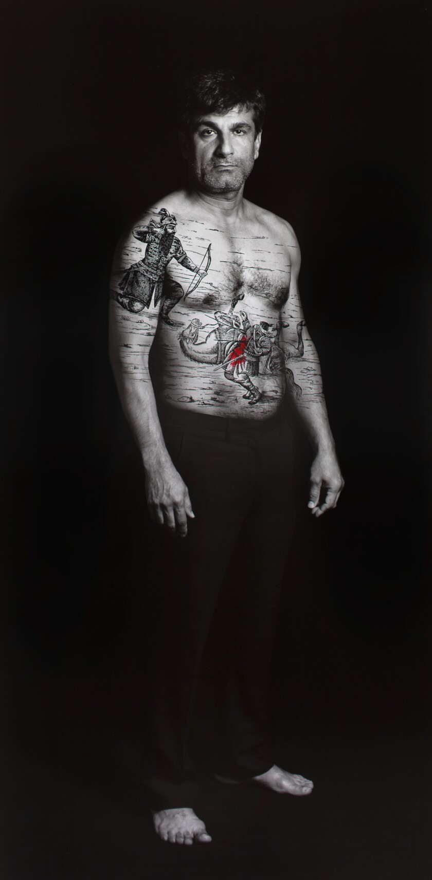 "Shirin Neshat's ""Amir (Villains),"" from the 2012 series ""Book of Kings."""