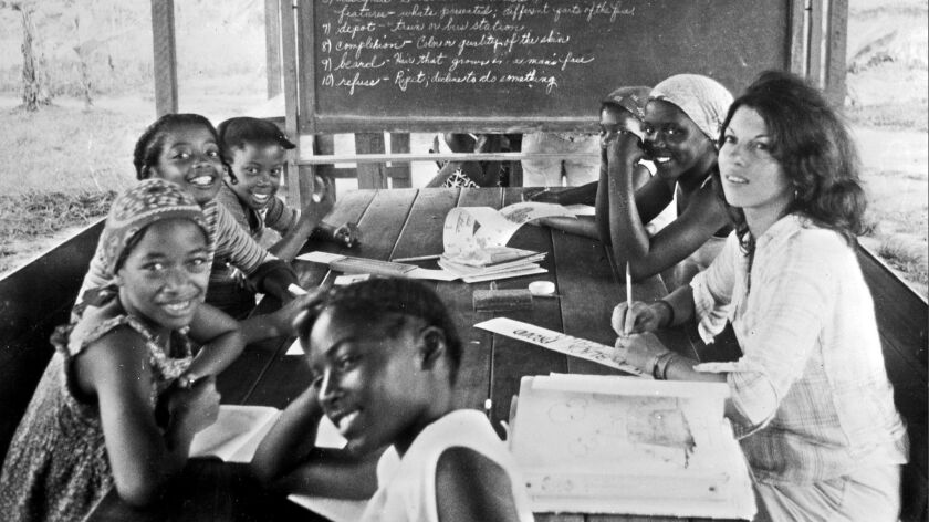 Peoples Temple children learn in the sect's nursery in Georgetown (renamed Jonestown), Guyana in 1978.