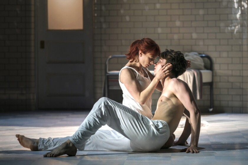 "Cordelia Braithwaite and Paris Fitzpatrick in Matthew Bourne's ""Romeo and Juliet"""