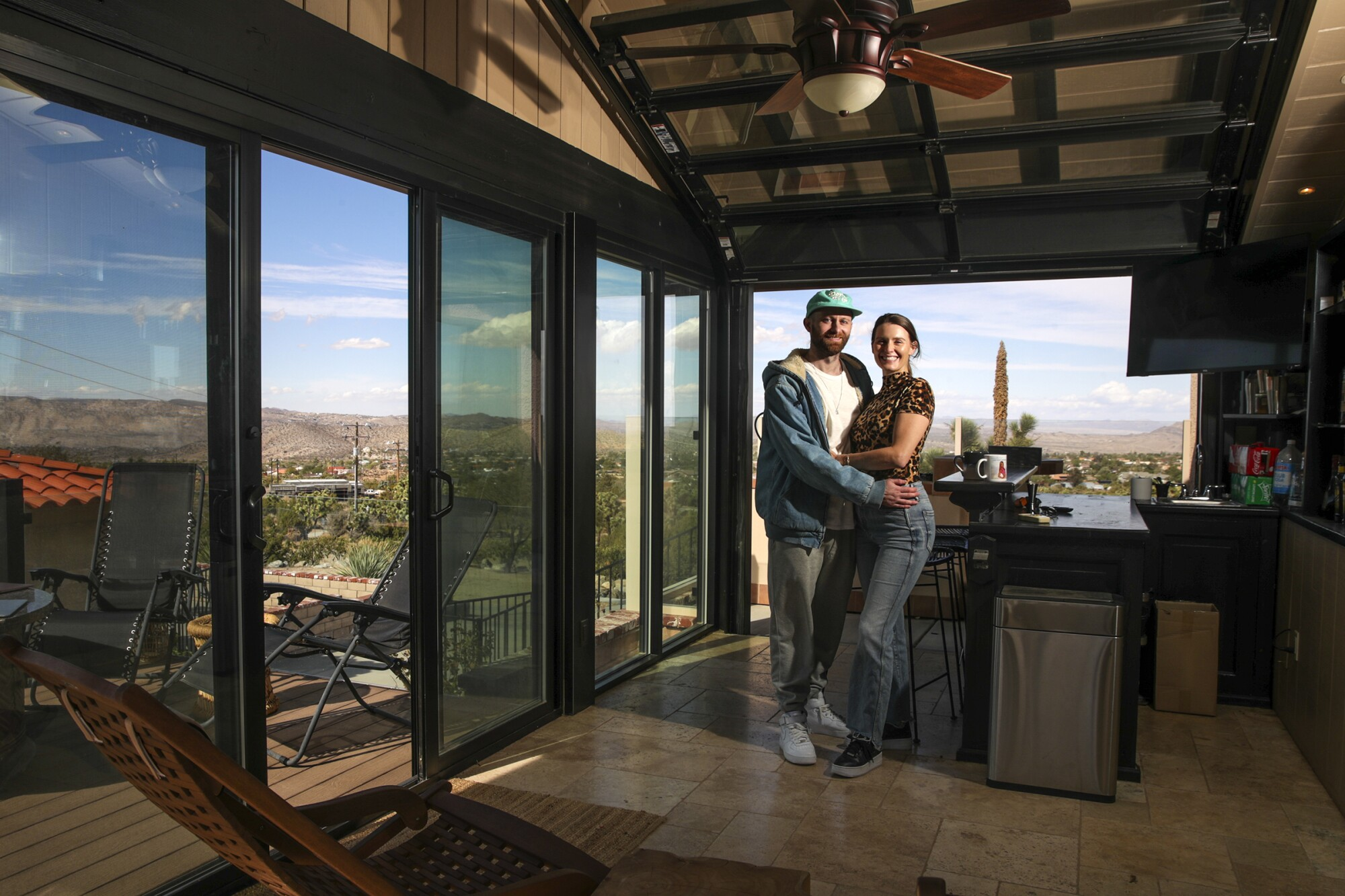 Tyler Gaul and Katelynn Rossiter left Los Angeles and found a spacious home in Yucca Valley during the pandemic.