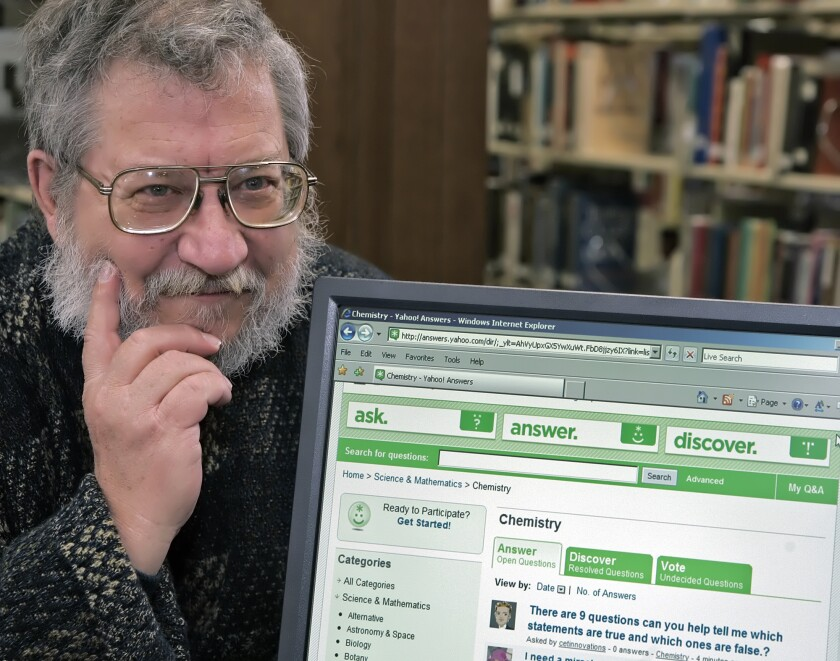 Richard Marchal, shown at a local library in December 2006, was a top-rated answerer on Yahoo! Answers.
