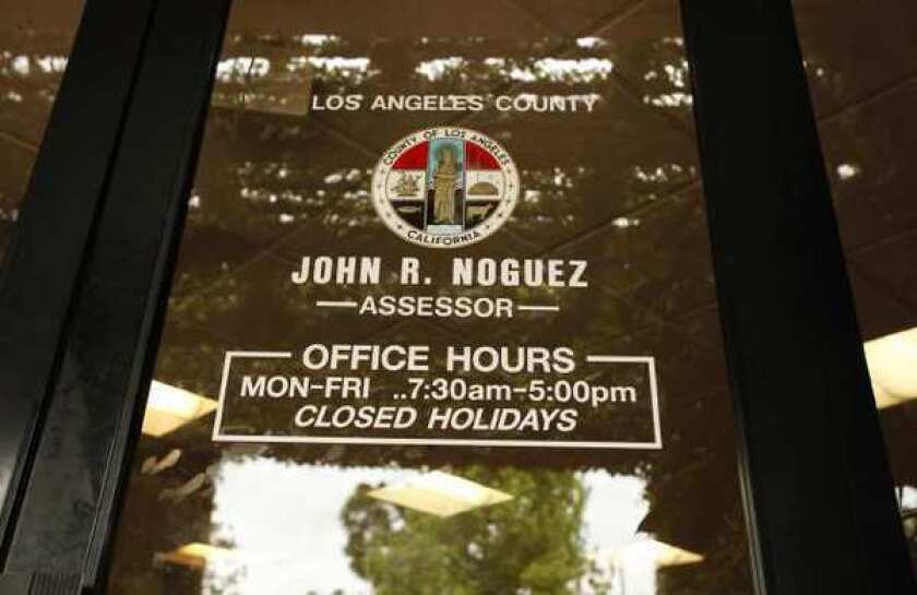 The Los Angeles County Assessor's office is seen in April.