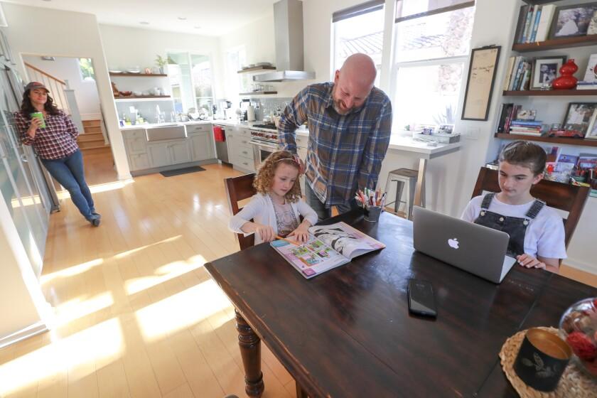 Jensen family works on home-schooling
