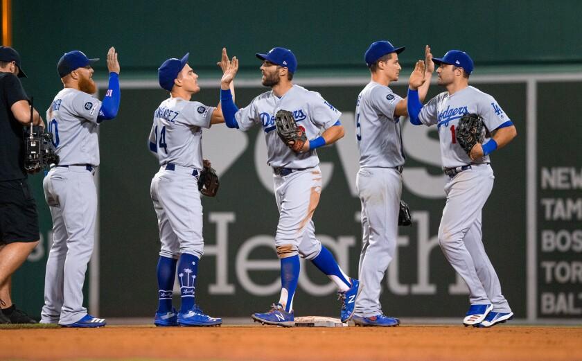 LA Dodgers at Boston