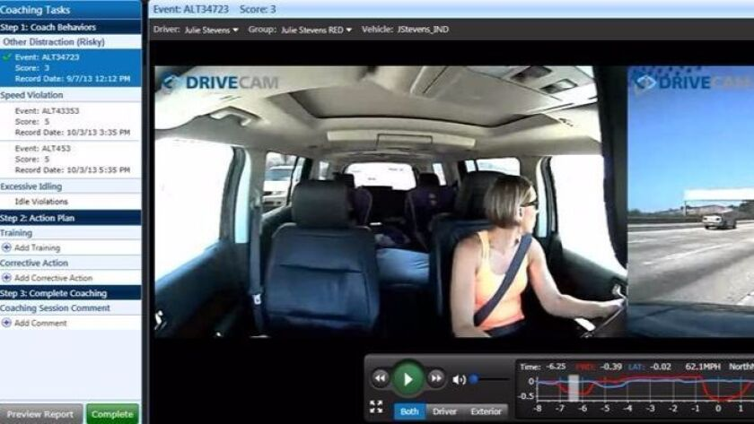 Lytx's DriveCam system helps truck fleets manage risk.