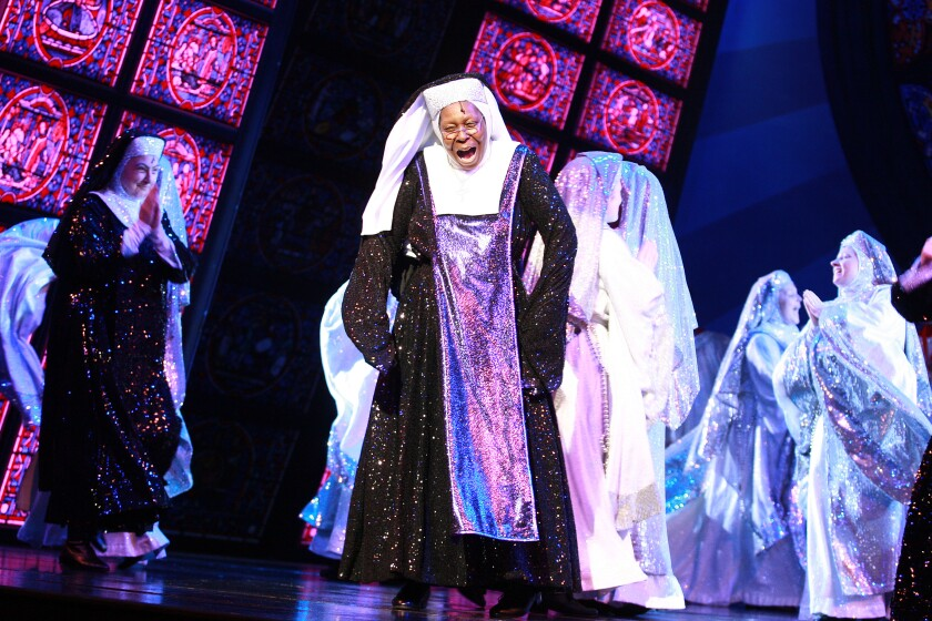 """Whoopi Goldberg plays Mother Superior in """"Sister Act: The Musical"""" in London in 2010."""