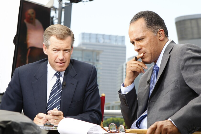 Brian Williams and Lester Holt.