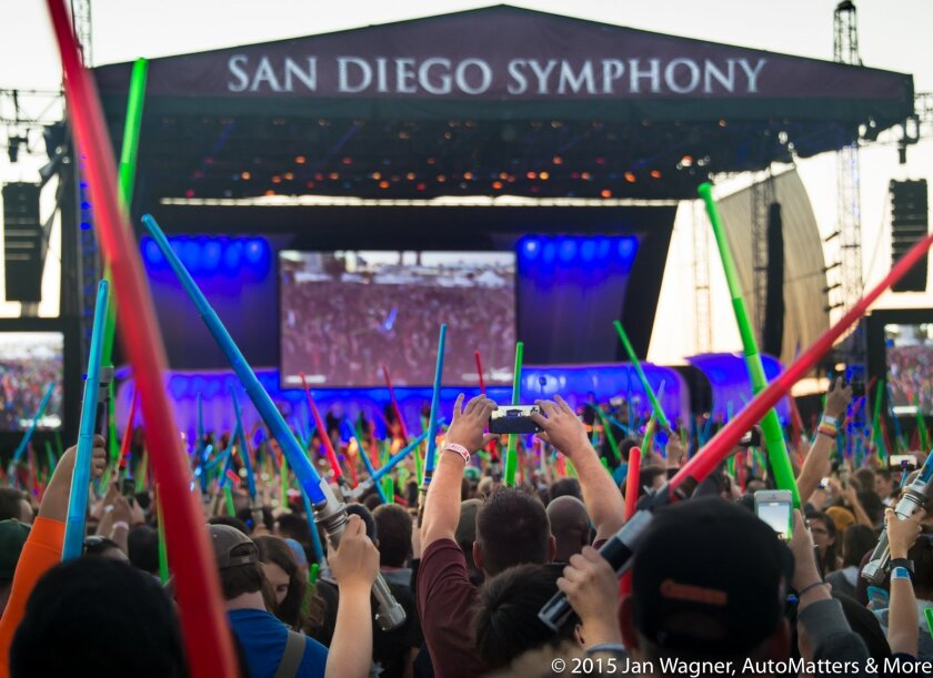 STAR WARS concert with JJ Abrams & Force Awakens stars at San Diego Comic-Con 2015.