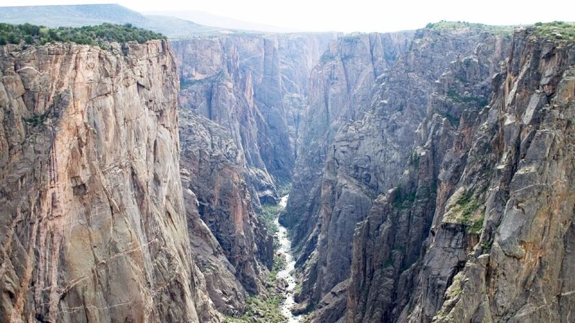 Carved over millennia by the raging waters of the Gunnison River, Black Canyon is 48 miles long.