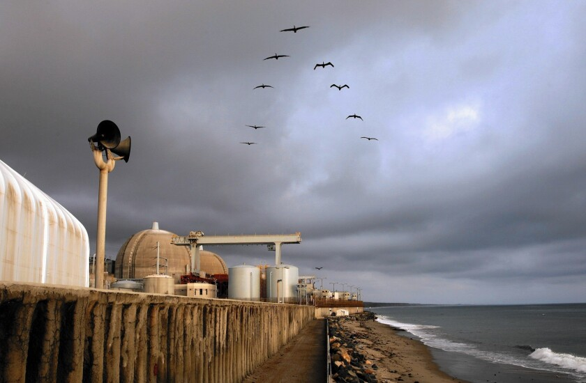 The San Onofre nuclear power plant was closed after a small radiation leak.
