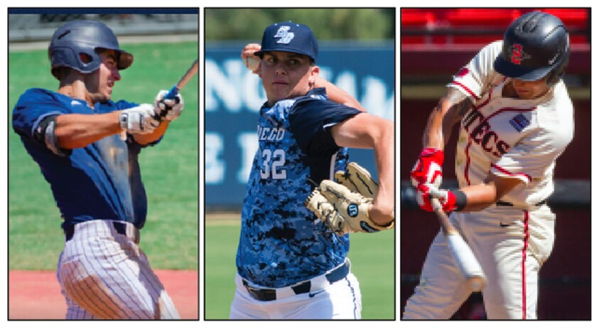Taking a glance at San Diego State, USD, UC San Diego, Point Loma Nazarene and Cal State San Marcos following the weekend in college baseball.