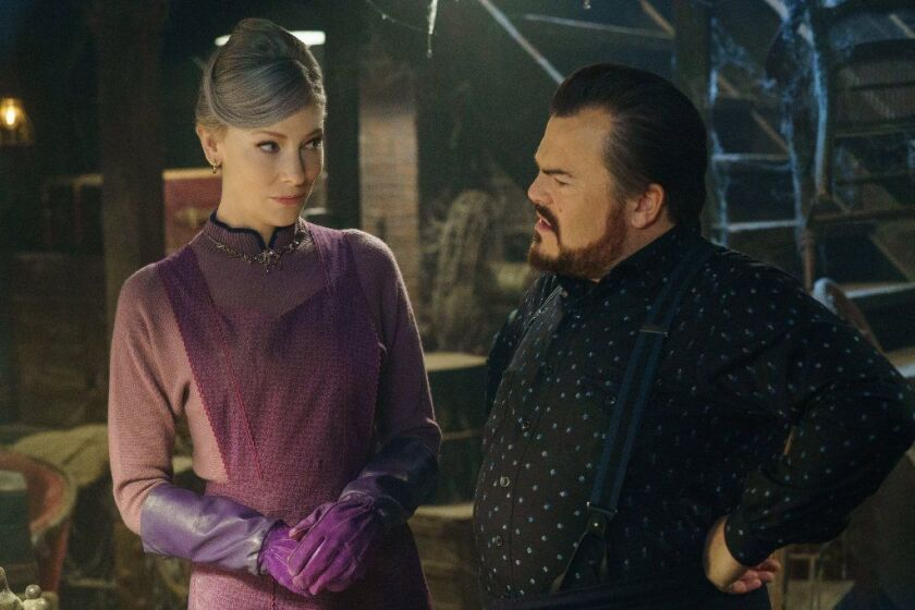 """Cate Blanchett and Jack Black in """"The House With A Clock in Its Walls"""""""