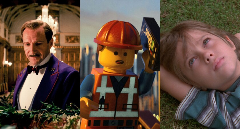 """The Grand Budapest Hotel,"" ""The Lego Movie"" and ""Boyhood"" won editing honors at the American Cinema Editors Eddie Awards."