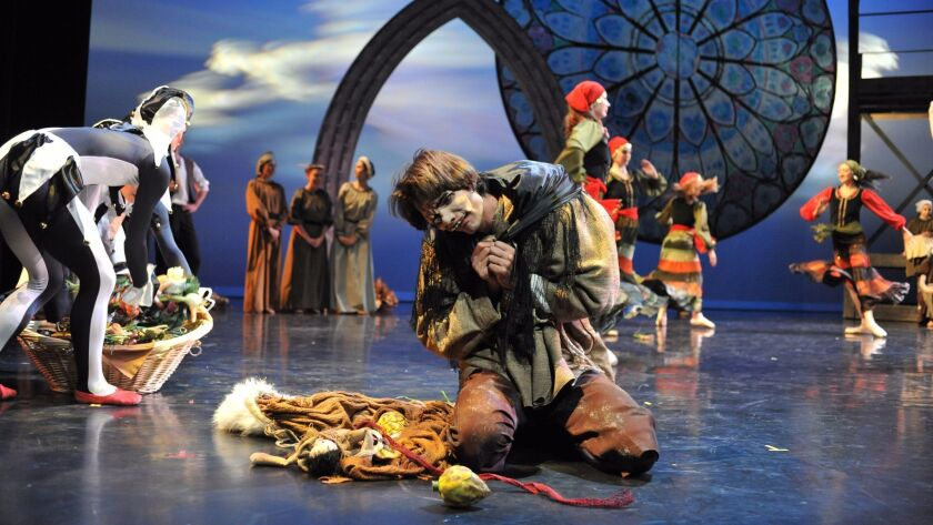 """Scene from City Ballet's """"Esmeralda and the Hunchback."""""""