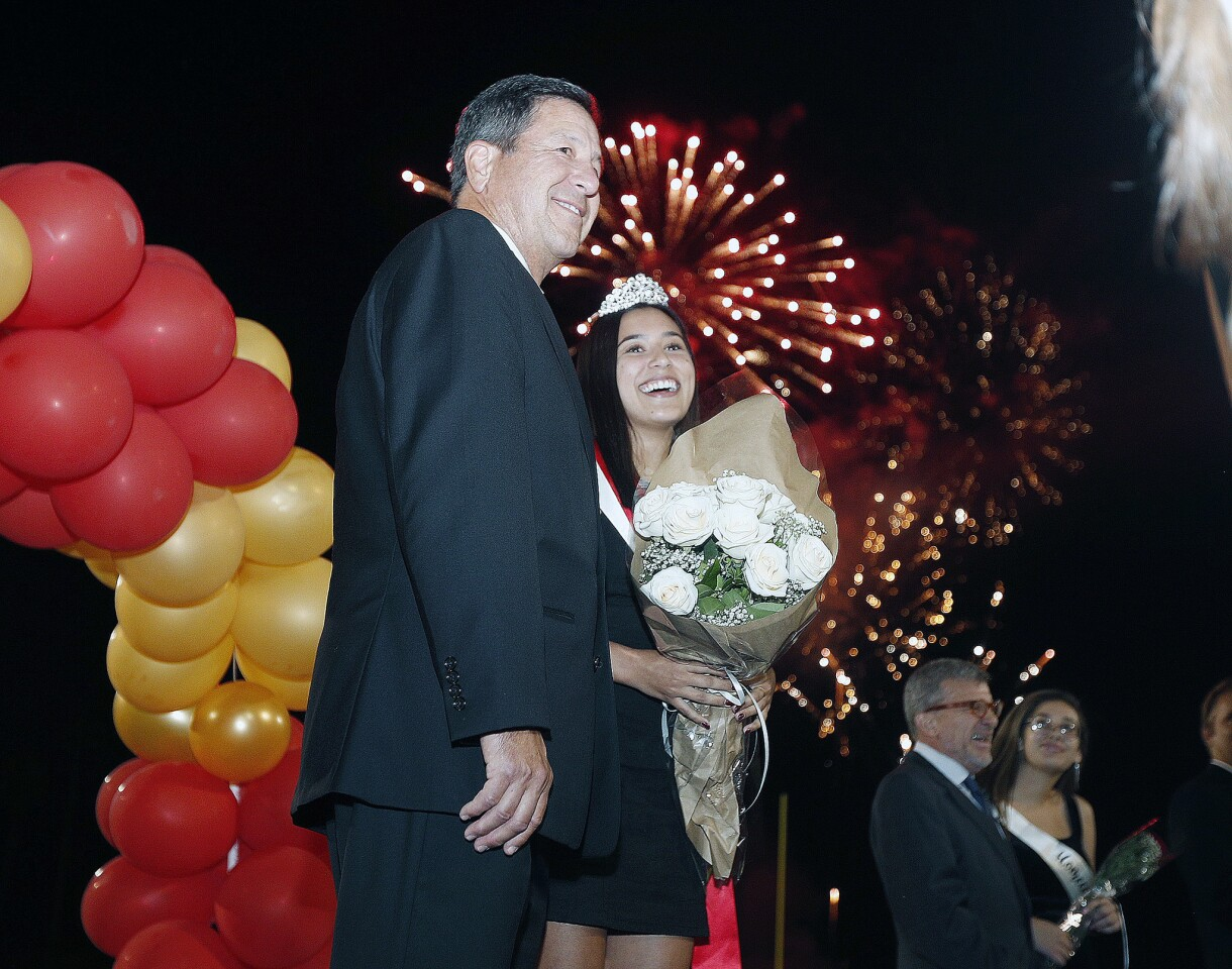 Photo Gallery: La Canada homecoming queen announced at halftime of football game