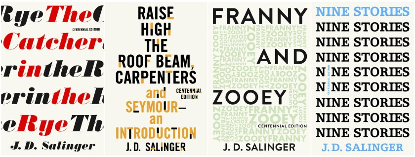 """This combination of book covers released by Little, Brown and Company shows """"The Catcher in the Rye,"""