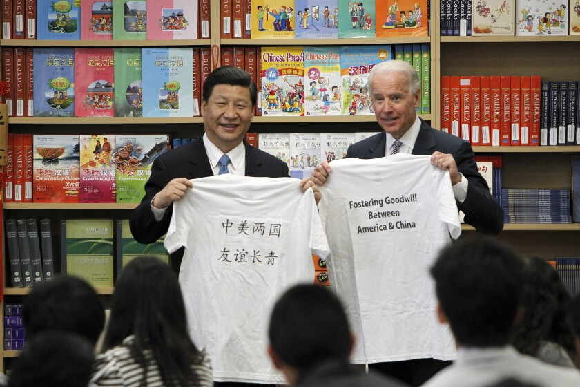 Xi Jinping, then vice president of China, and Vice President Joe Biden in February 2012.