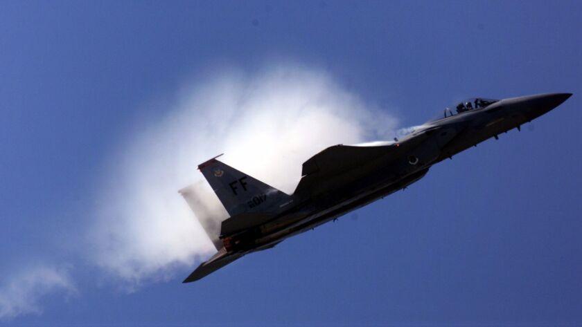 An F-15 at an air show in 2001.