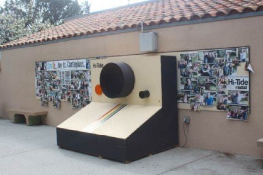 Toward the end of its time at La Jolla High School, the photos taken were posted alongside the camera. Ashley Mackin