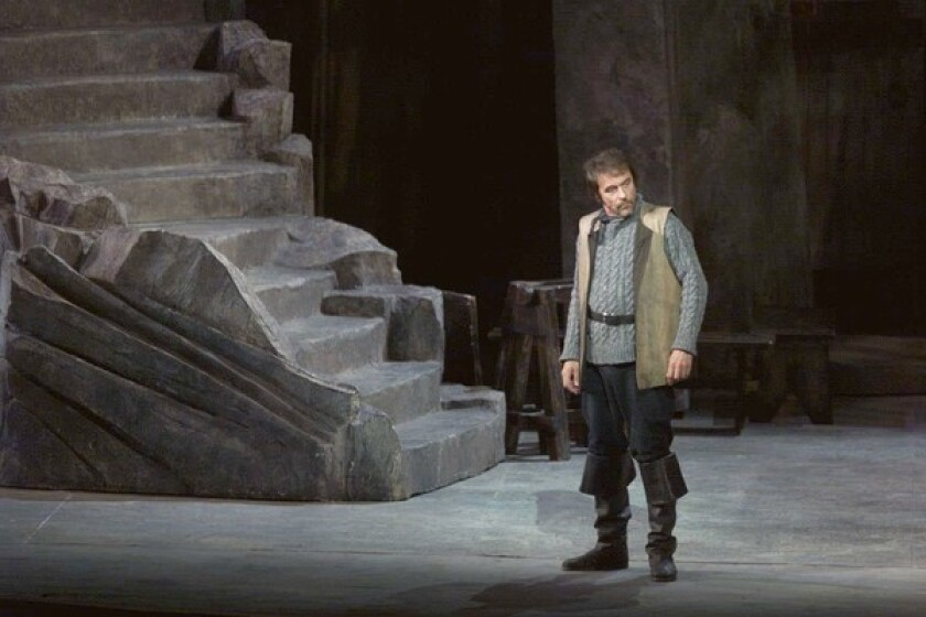 """Philip Langridge, who had a long association with the Royal Opera, starred in a Los Angeles Opera production of Benjamin Britten's """"Peter Grimes"""" in 2000, above."""