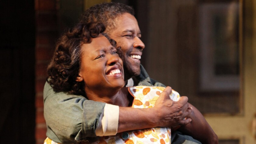 "Viola Davis and Denzel Washington in ""Fences."""
