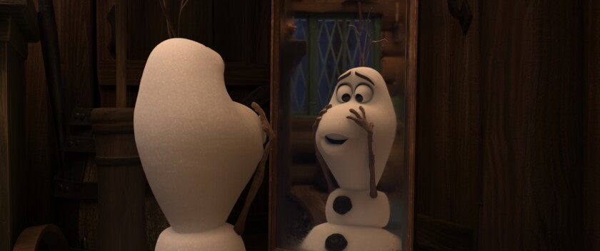 """Olaf the snowman stars in Disney's latest animated short, """"Once Upon a Snowman."""""""