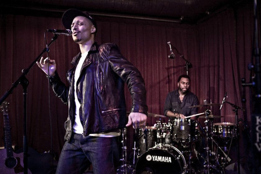 Jose James onstage at Berkeley Street Studio in Santa Monica.