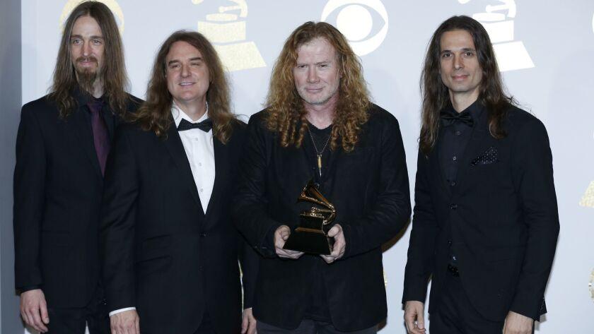 LOS ANGELES, CA - February 12, 2017 Megadeth, Pretel winner for Best Metal Performance (CAT 13) bac