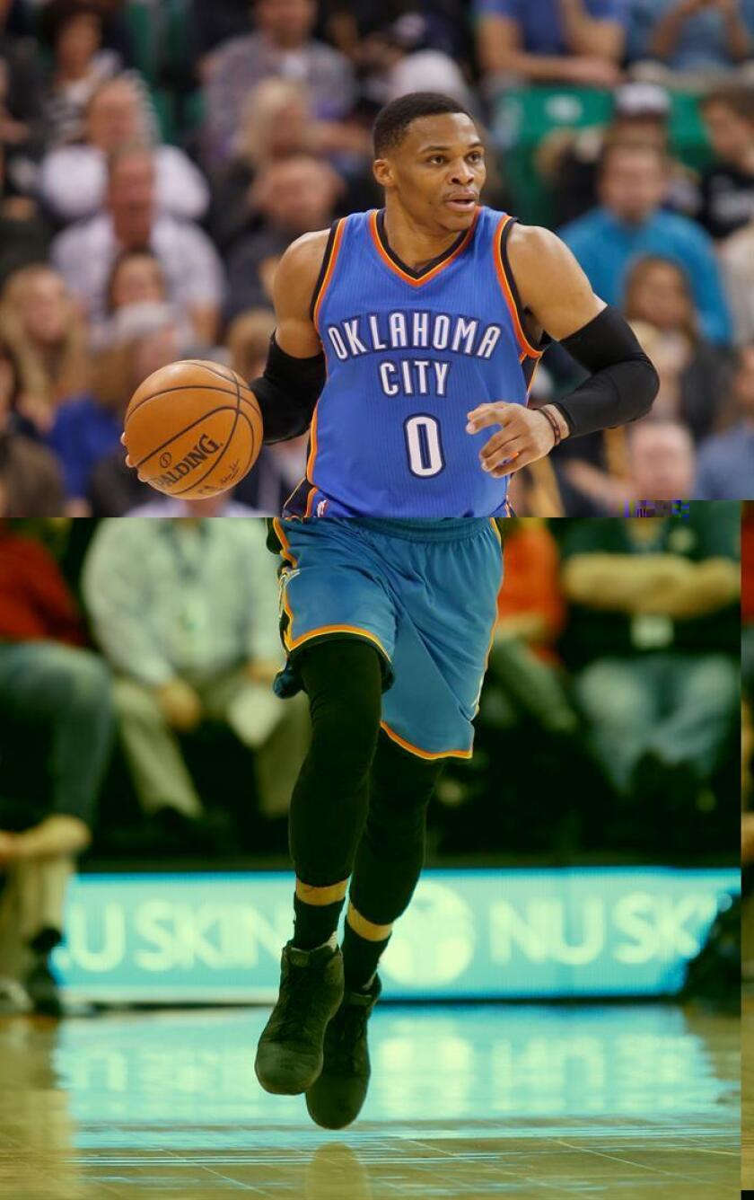 El jugador de Thunder Russell Westbrook. EFE/Archivo