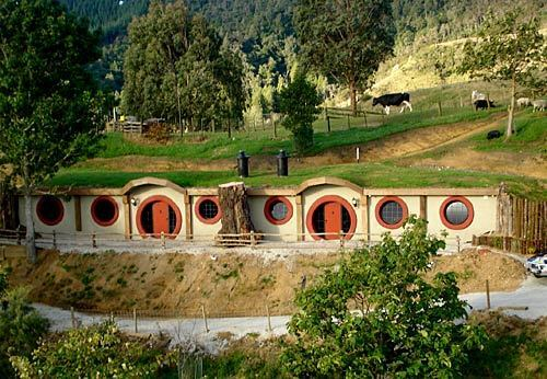 Who knows how J.R.R. Tolkien would have designed a motel but the Hobbit Motel in New Zealand seems to have real fantasy appeal. The strange little building with porthole-style windows is built into the side of a hill in Waitomo, a region on the North Island known for its caves and waterfalls. -- Kelsey Ramos, Los Angeles Times