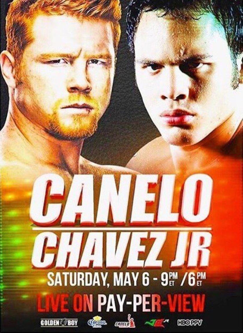 Así es el cartel del posible choque Canelo vs Chávez Jr.