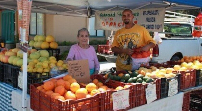 Families for decades have been conducting vending services at the Del Mar Farmers Market in conjunction with family bonding time. Photo/Del Mar Farmers Market