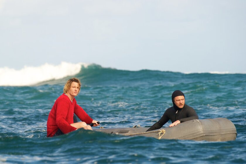 "Andy Kelly (Myles Pollard, left) and JB (Sam Worthington, right) in ""Drift."""