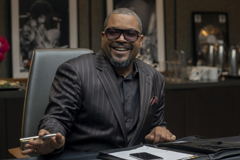 """This image released by Focus Features shows Ice Cube in a scene from """"The High Note."""" (Glen Wilson/Focus Features via AP)"""