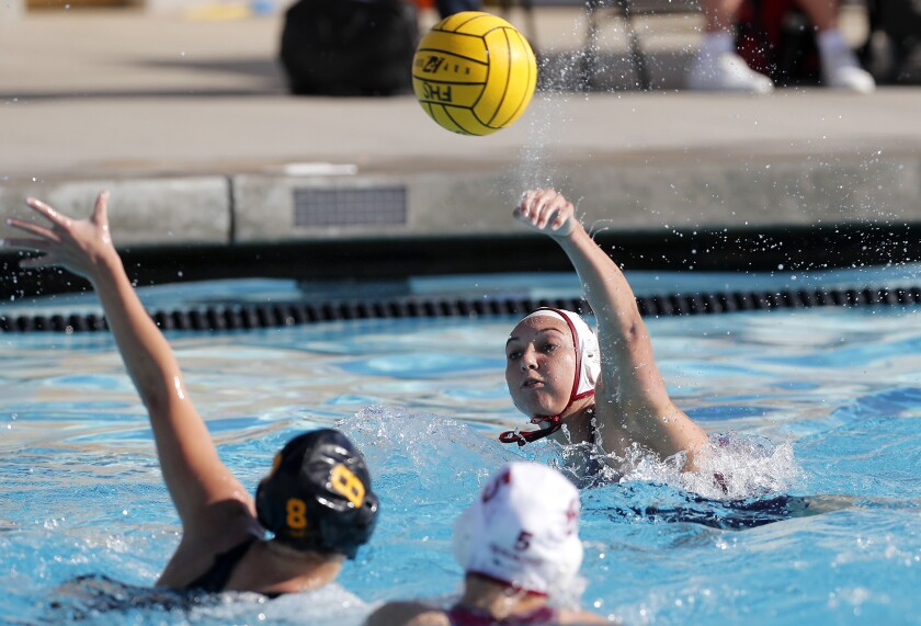 Laguna Beach's Emma Lineback scores against Foothill during the first half in a nonleague match on Saturday.