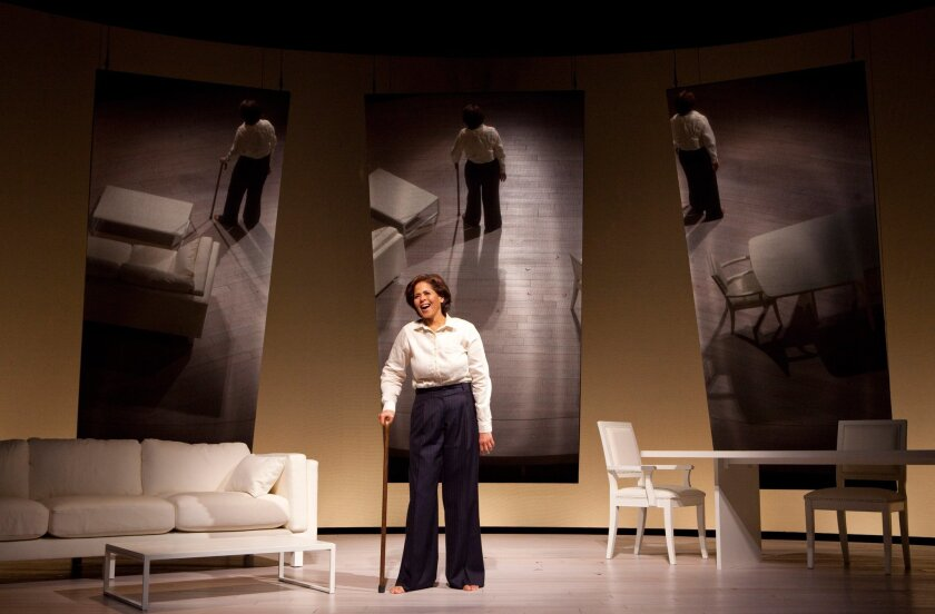 "Anna Deavere Smith in ""Let Me Down Easy,"" the health-care-centered piece that ran at San Diego Rep last spring. A filmed version of the solo play will run on KPBS' ""Great Performances"" in January."