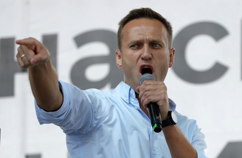 Alexei Navalny in 2019