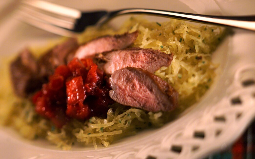 Seared Spiced Duck Breasts
