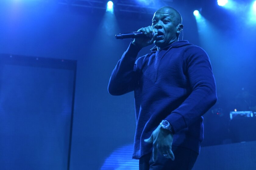Dr. Dre performs in 2015 at Madison Square Garden in New York.