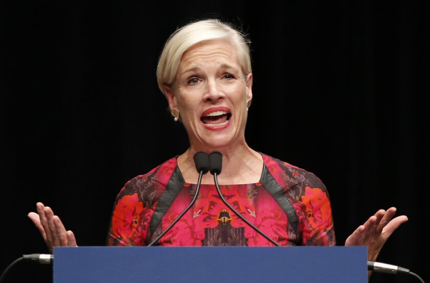 In this file photo, Cecile Richards, Planned Parenthood president, speaks in Orono, Maine. Richards denied any violation of laws regarding videos in which Planned Parenthood officials are seen discussing an alledged sale of tissue from aborted fetuses.