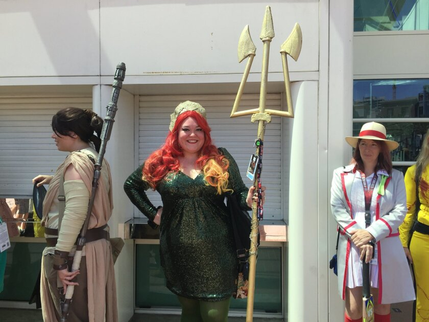 Ashley Story dressed as Queen Mera.